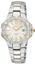 Seiko Women's SXDC34 Diamond Two-Tone Coutura White Dial Watch