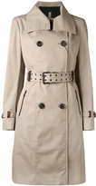 Mackage Caroline trench coat - women - Cotton/Feather Down/Leather/Polyester - M