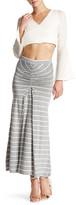 Fraiche By J Ruched Stripe Maxi Skirt