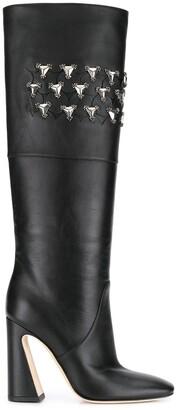 Alberta Ferretti Crystal-Embellished Boots
