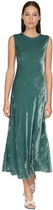 Sies Marjan Sleeveless Velvet Cord Midi Dress