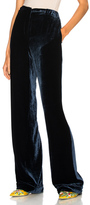 Alberta Ferretti Velvet Wide Leg Pants in Blue.