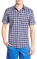 Bugatchi Men's Classic Fit Short Sleeve Linen Sport Shirt