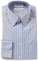 Daniel Cremieux Non-Iron Fitted Classic-Fit Point-Collar Striped Dress Shirt