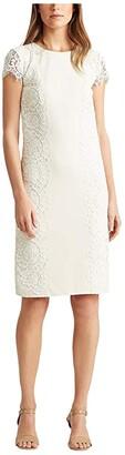 Lauren Ralph Lauren Vesna Dress (Matte Ivory) Women's Dress