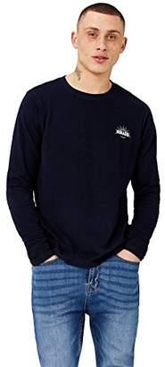 HIKARO Men's Chest Logo T-Shirt,(Manufacturer size: Medium)