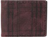 John Varvatos Plaid Printed Slim Fold Wallet