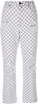 Alexander Wang checkered straight jeans - women - Cotton - 24