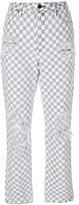 Alexander Wang checkered straight jeans - women - Cotton - 28