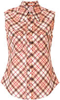 Miu Miu checked sleeveless shirt