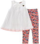 Juicy Couture White Sleeveless Top & Floral Leggings - Toddler & Girls