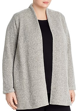 Eileen Fisher Plus Organic Cotton Open-Front Cardigan