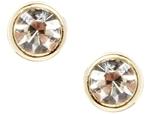 Asos Crystal Cone Stud Earrings - Crystal