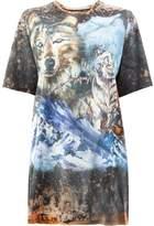 Balmain oversized wolf T-shirt
