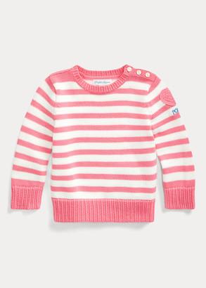 Ralph Lauren Heart-Patch Cotton Sweater