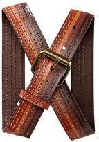 Gap Striped leather belt