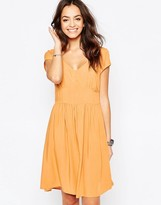 Only Cut Out Back Skater Dress