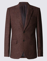 Marks And Spencer Pure Wool 2 Button Jacket With Buttonsafetm