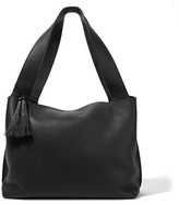 The Row Duplex Textured-leather Shoulder Bag - Black