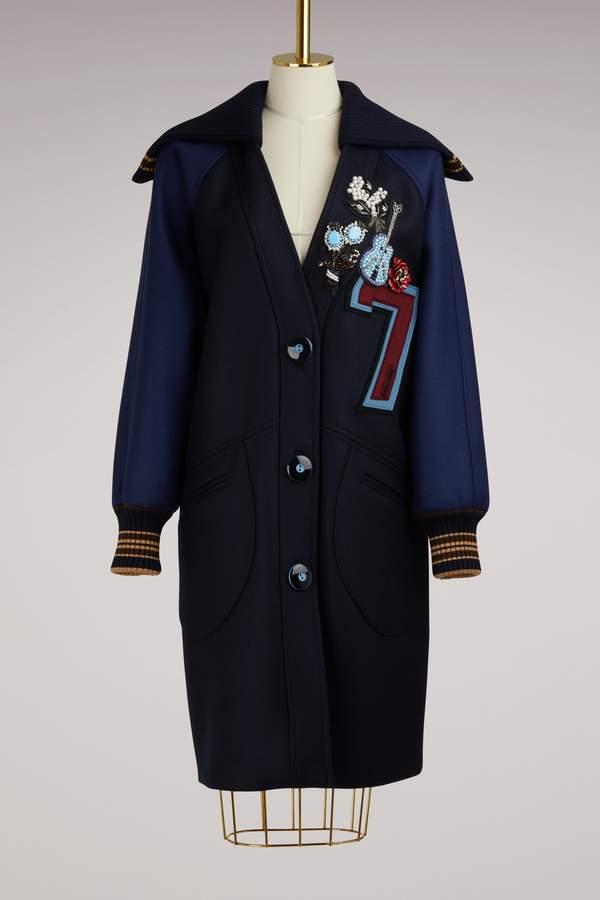 Miu Miu Embroidered Bomber Coat