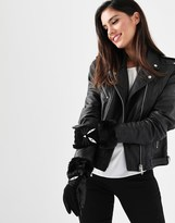 Alice Hannah Cat Face Leather Gloves