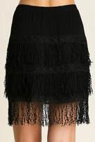 Umgee USA Midi Fringe Skirt