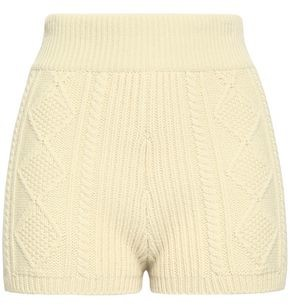 RED Valentino Cable-knit Wool Shorts