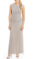 Pisarro Nights Beaded Two Piece Gown