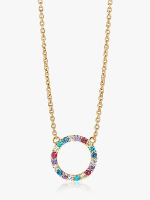 Sif Jakobs Jewellery Open Circle Pendant Necklace, Gold/Multi