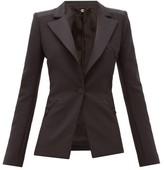 Paco Rabanne Single-breasted Wool-blend Crepe Jacket - Womens - Black