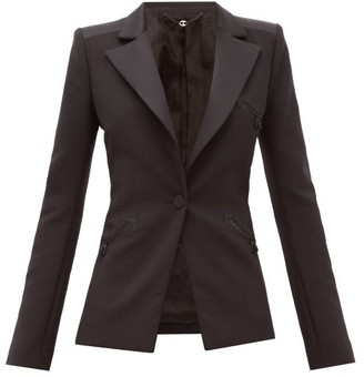 Paco Rabanne Single-breasted Wool-blend Crepe Jacket - Womens - Black