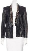 Balmain Leather Embellished Jacket