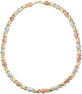JCPenney FINE JEWELRY 14K Gold Over Silver Hugs and Kisses Necklace