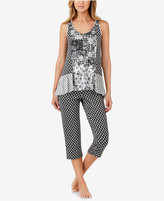 Ellen Tracy Tank and Cropped Pants Pajama Set