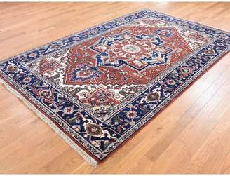 """Remington Canora Grey One-of-a-Kind Village Hand-Knotted 5'9"""" x 8'10"""" Wool Red Area Rug Canora Grey"""
