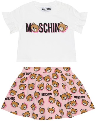 MOSCHINO BAMBINO Baby T-shirt and skirt set