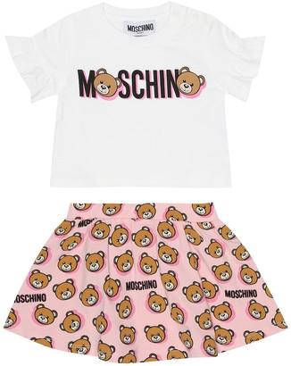 Moschino Kids Baby T-shirt and skirt set