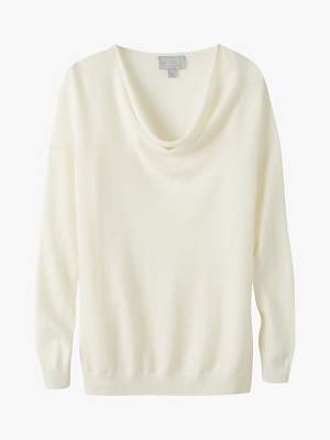 Pure Collection Drape Neck Cashmere Sweater