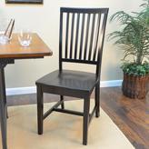 Hudson Carolina Cottage Antique Black Wood Dining Chair