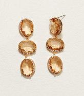 LOFT Pave Stone Drop Earrings