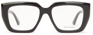 Bottega Veneta Square Acetate Glasses - Black