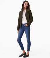 LOFT Tall Modern Stacked Skinny Jeans in Bright Mid Indigo Wash
