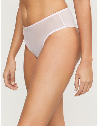 Les Girls Les Boys Semi-sheer stretch-mesh briefs