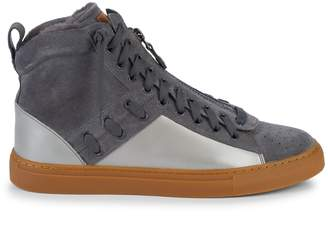 Bally Hekem Suede & Leather Shearling-Lined Sneakers