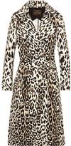 Roberto Cavalli Leopard-print Cotton-twill Trench Coat - IT42
