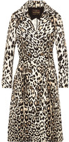 Roberto Cavalli Leopard-print Cotton-twill Trench Coat - Leopard print