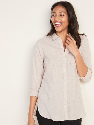 Old Navy Classic Flannel Pocket Tunic for Women