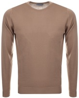 John Smedley Lundy Crew Neck Jumper Brown