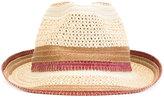 Etro contrast straw hat