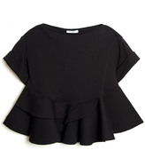 Givenchy Ruffle Waist Boatneck Top
